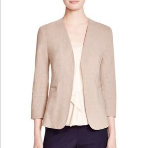 Theory Lindrayia linen blend open front blazer